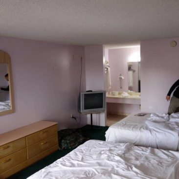 Unser Motelzimmer nahe Disneyland