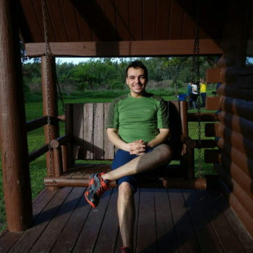 Philipp vor unserer Hütte im State Park bei Miami