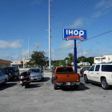 Der Parkplatz des IHOPs