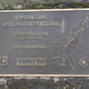 Tafel zum AT auf Springer Mountain