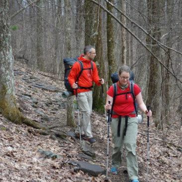 Katerina und Robert auf dem Trail
