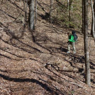Katerina auf dem Trail