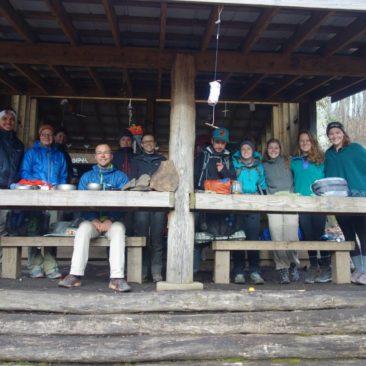 Gruppenbild bei voller Shelter