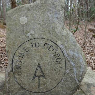 Hinweisstein im Amicalola State Park