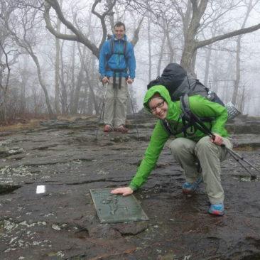 Katerina und Philipp auf Springer Mountain