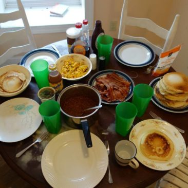Unser üppiges Frühstück in Hampton, TN