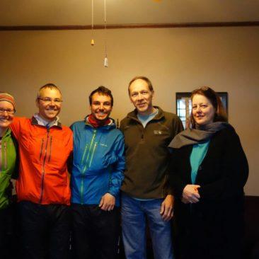 Gruppenbild mit Lee und Paul vom Hikers Inn in Damascus, VA
