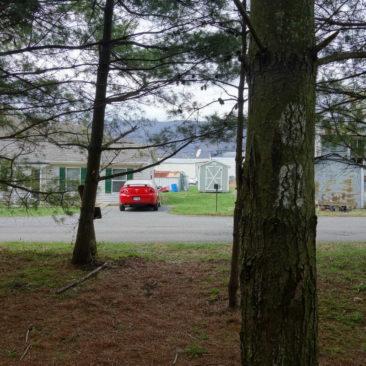 In Pearisburg geht es auch kurz durch Vorgärten