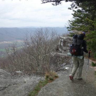 Entlang Tinker Cliffs - sehr schön