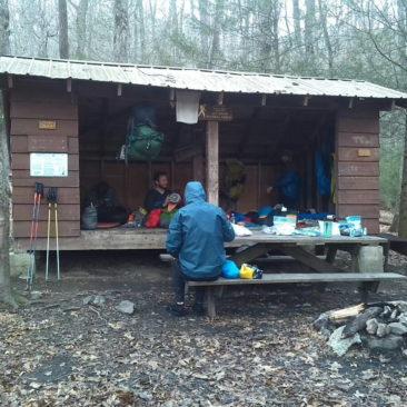 Die Standard-Shelter auf dem AT