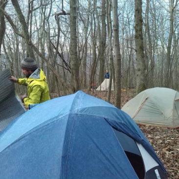 Unser Zeltlager kurz hinter Pearisburg