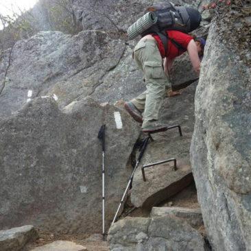 Nein, das ist noch nicht in New England - erste Klettereinlagen in Virginia