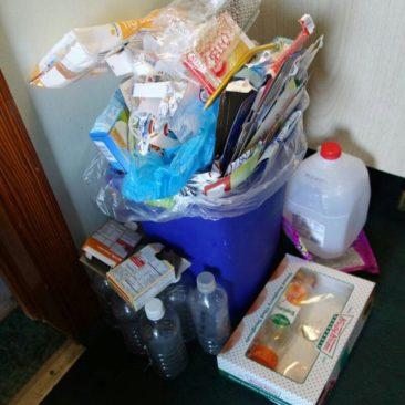 Verpackungsmüll nach unserem Resupply