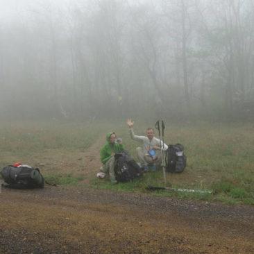 Wall-E und Milkmonsta - auch im Nebel guter Dinge