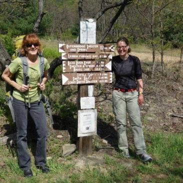Mary Ellen (links) und Wall-E bei der Rückkehr zum Trail