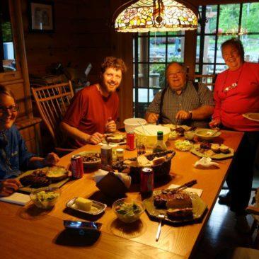 Abendessen bei Tom und Magret
