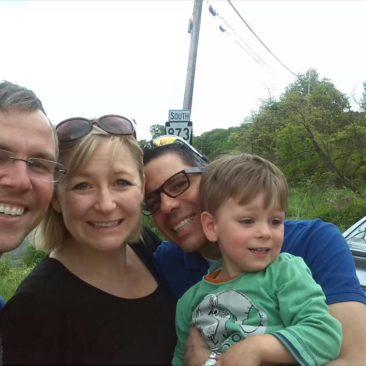 Gruppenbild mit Christiane, Gilbert und Matteo