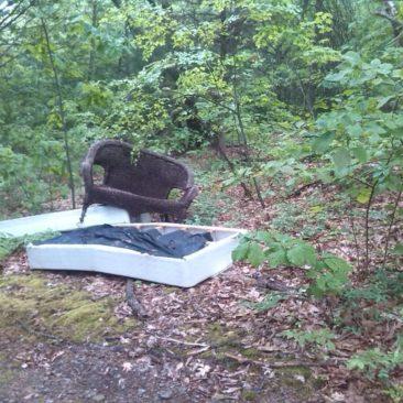 Selten, aber leider auch vorhanden - Müll entlang des Trails