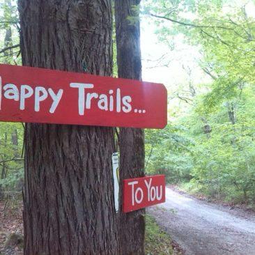 Gute Wünsche entlang des Trails