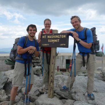 Auf der Spitze von Mount Washington