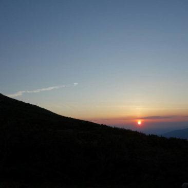 Sonnenuntergang an der Madison Hut