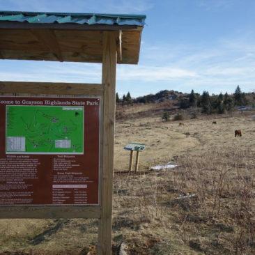 Eingang zum Grayson Highlands State Park