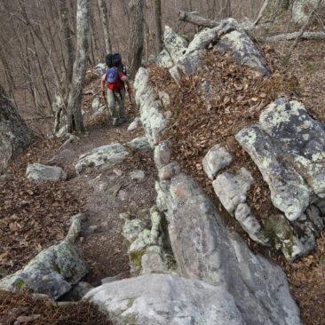 Steinige Abschnitte gibt es ebenfalls