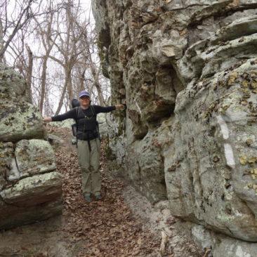 Kleines Felslabyrinth kurz vor den Tinker Cliffs