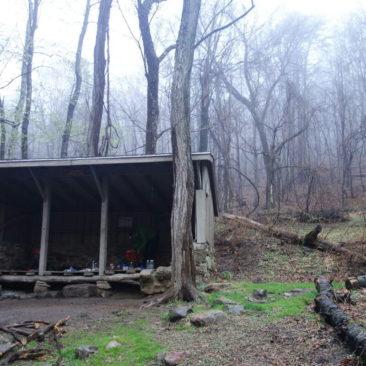 Shelter kurz vor Daleville