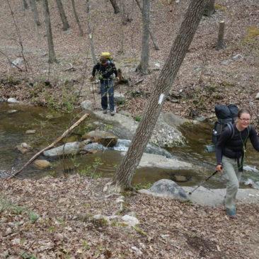 Bachüberquerungen in Virginia sind meist einfach