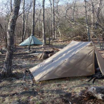 Zelten an der Priest Shelter