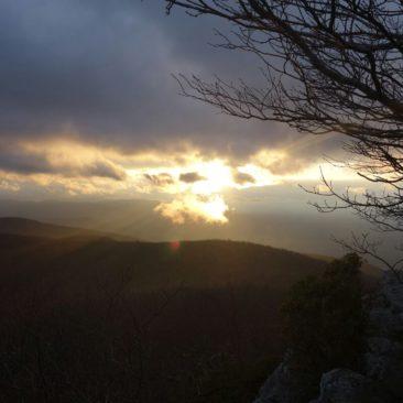 Sonnenuntergang am Blue Ridge Parkway