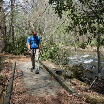 Gut ausgebauter Trail im südlichen Pennsyvania.