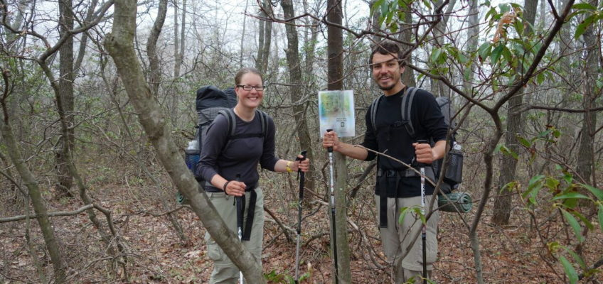 Mittelpunkt des Appalachian Trails 2014.