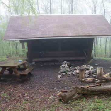 Auch in Pennsylvania haben die Shelter die typische Form und Größe