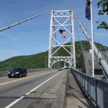 Die Brücke über den Hudson River bei Bear Mountain, NY