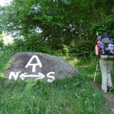 Wegweiser Appalachian Trail Nord Süd