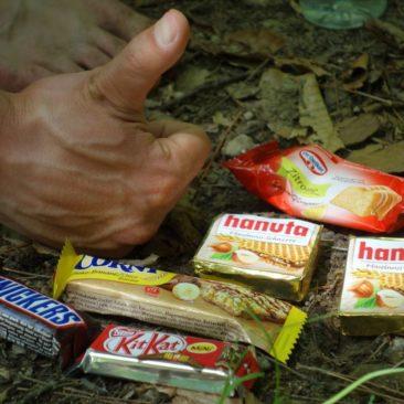 deutsche Snacks im amerikanischen Wald