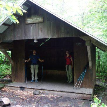 Die schöne Churchill Scott Shelter - eine unserer liebsten Shelter auf dem AT