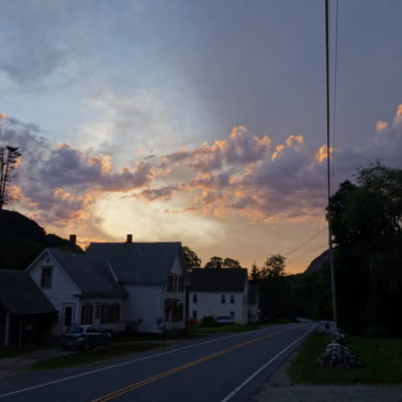 Sonnenuntergang am Hikers Welcome Hostel kurz vor Mount Moosilauke