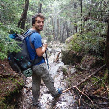 Nach Regen ist der Trail ein Bach