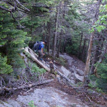 Selten gibt es in den White Mountains Hilfsmittel wie diese Leiter