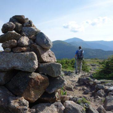 Auf dem Weg zu Mount Washington (im Hintergrund)