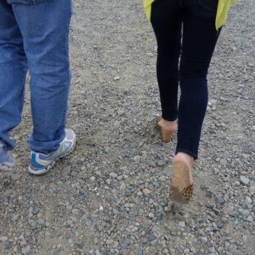 Unangemessenes Schuhwerk für Mount Washington