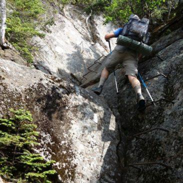 Anstrengende Kletterpartien gibt es auch in Maine
