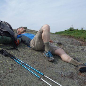 Pause auf Stein in Maine