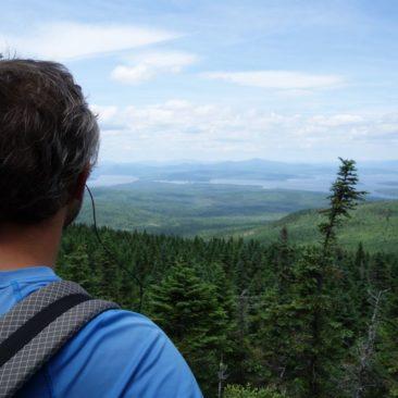 Ausblick auf die vielen Seen in Maine