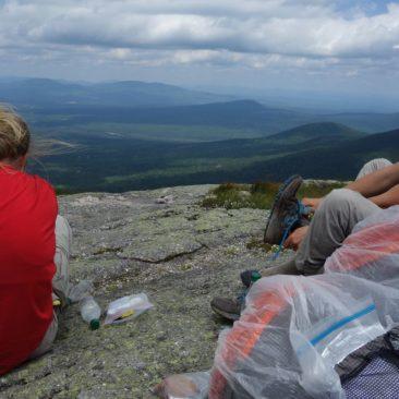 Ausblick auf Maine von Saddleback Mountain