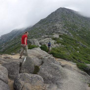 Unser Aufstieg auf Mount Katahdin erfolgte mal wieder in den Wolken