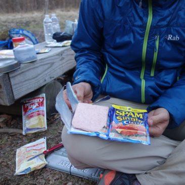 SPAM ist auf dem Trail gut als Fleischersatz  geeignet.